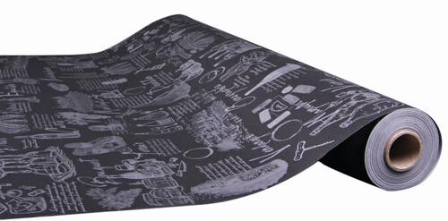 Image du produit Papier cadeau Cépage kraft couché noir/argent 73gr 0.70x100m