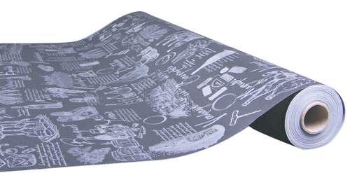 Image du produit Papier cadeau Cépage kraft couché noir/argent 73gr 0.50x200m
