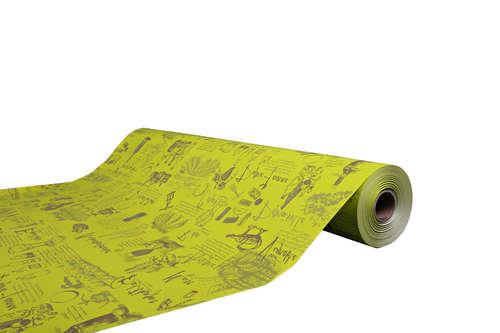 Image du produit Papier cadeau Cépage kraft couché anis/taupe 73gr 0.50x200m