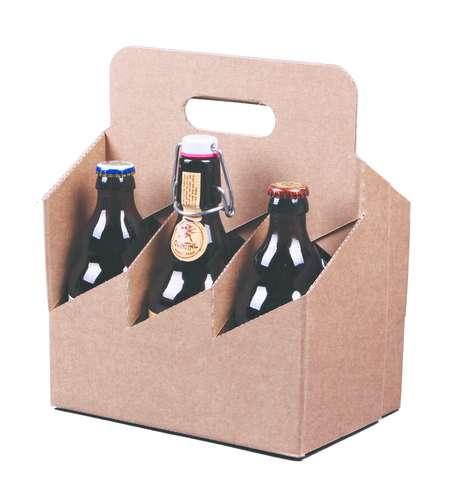 Image du produit Valisette panier Atlanta carton kraft lisse 6 bières 33cl - FSC7