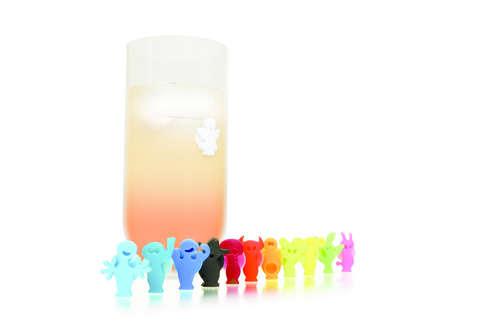 Image du produit Marque-verre Glass Marker Party People Vacuvin (12 pièces)