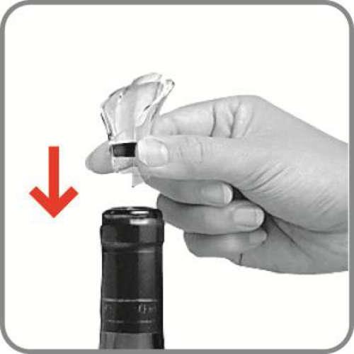 Image du produit Bec verseur anti-goutte Wine Server Cristal noir Vacuvin