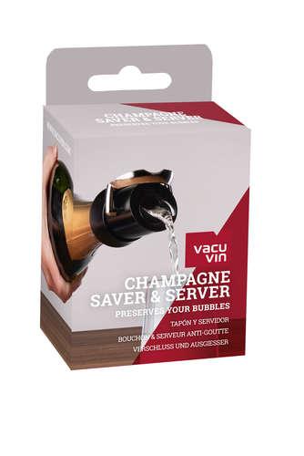 Image du produit Bouchon verseur conservateur Champagne Saver noir Vacuvin