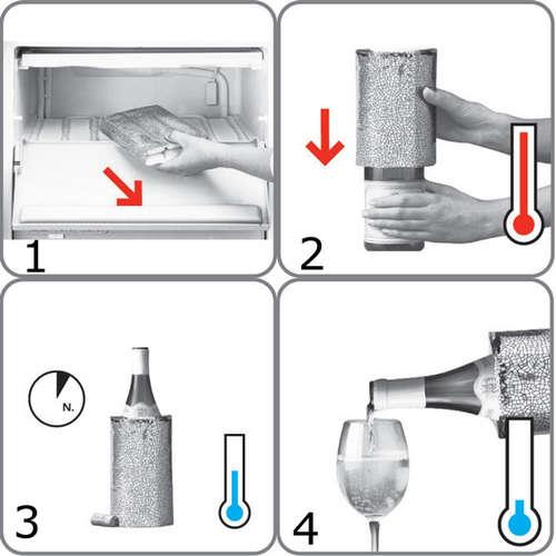 Image du produit Gaine rafraichissante Active Cooler Wine platinium Vacuvin