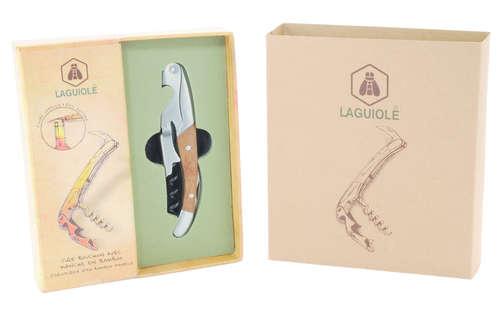 Image du produit Sommelier Baudignan double appui  manche bambou Laguiole