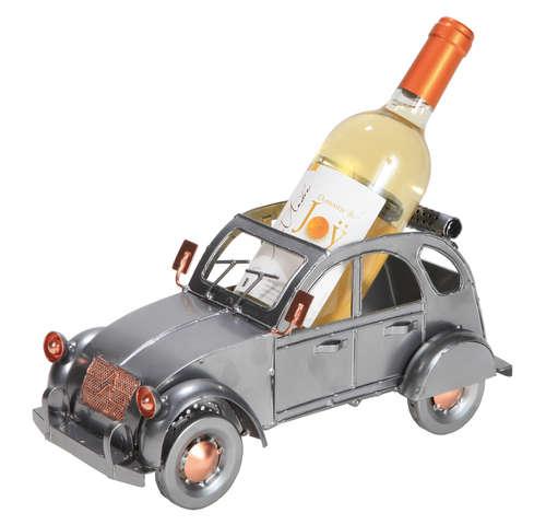 Image du produit Support bouteille Félix métal gris/cuivre - 2CV