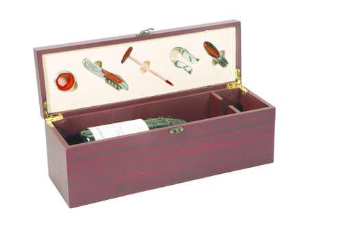 Image du produit Coffret sommelier Acajou magnum bois 5 pièces