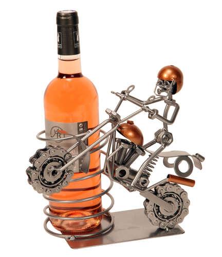 Image du produit Support bouteille Félix métal gris/cuivre - Motocross