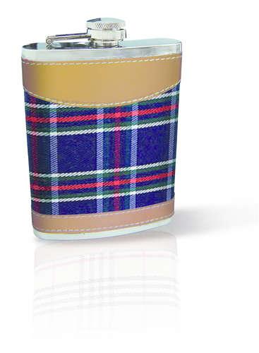 Image du produit Flasque Brandy inox/écossais 8oz/24cl VinBouquet
