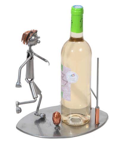 Image du produit Support bouteille Félix métal - Rugbyman