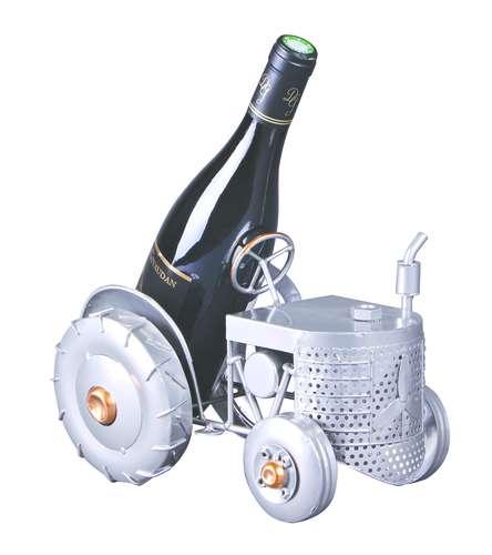 Image du produit Support bouteille Félix métal gris/cuivre - Tracteur