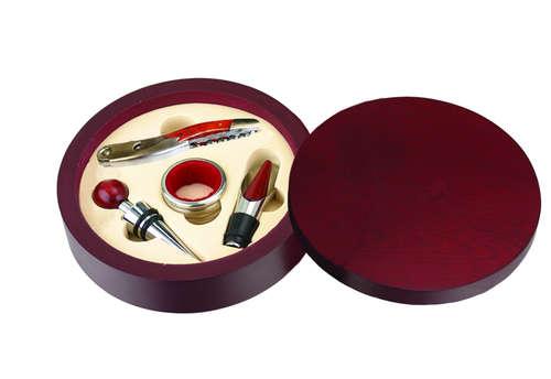 Image du produit Set à vin Acajou bois 4 pièces