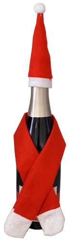 Image du produit Set bouteille Noah feutrine rouge/blanc