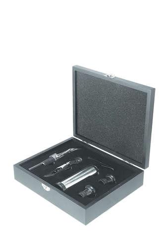 Image du produit Set à vin Yero 5 pièces bois noir