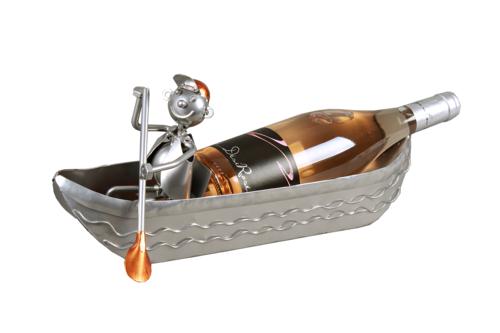 Image du produit Support bouteille Félix métal gris/cuivre - Canoe