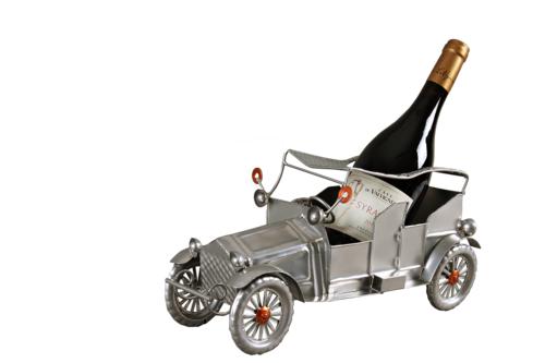 Image du produit Support bouteille Félix métal gris/cuivre - Vintage car