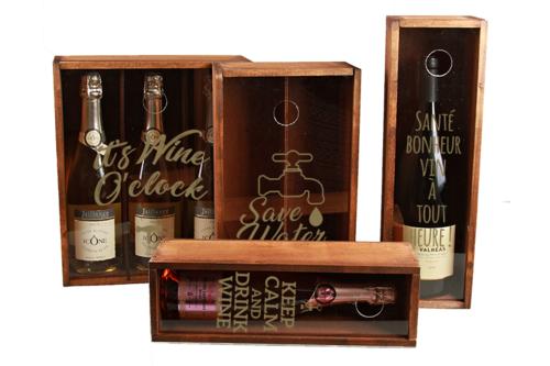 Image du produit Caisse Collector bois/cappuccino 3 bouteilles