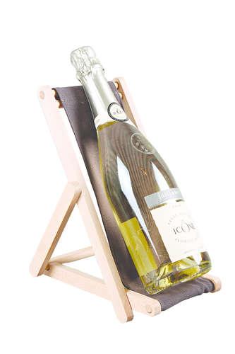 Image du produit Support bouteille Valentina bois toile uni anthracite
