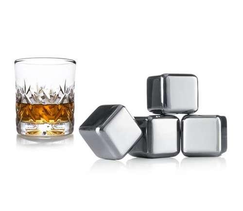 Image du produit Glaçons à whisky Max inox rafraîchissant (4 pièces)