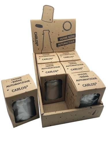 Image du produit Décapsuleur/ouvre bière automatique Carlos aluminium finition brossée
