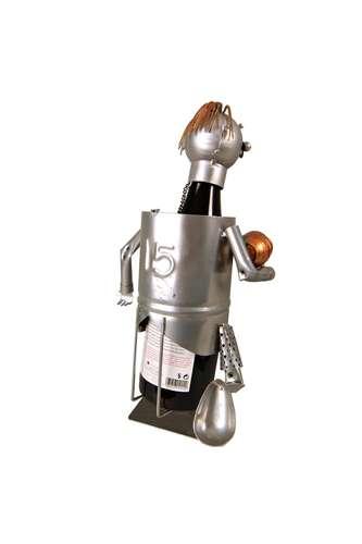 Image du produit Support bouteille Félix métal gris/cuivre - Rugbyman n15