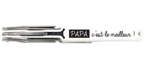 Image du produit Sommelier Coutale Innovation blanc décoré - Papa c'est le meilleur