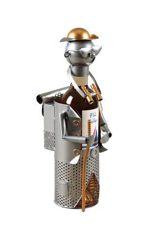 Image du produit Support bouteille Félix métal gris/cuivre - Randonneur jumelle