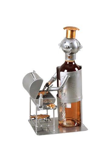 Image du produit Support bouteille Félix métal gris/cuivre - BBQ Gaz