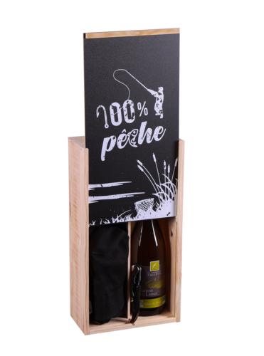 Image du produit Coffret pêche Colin 1 bouteille bois couvercle noir 4 pièces - 100/pêche