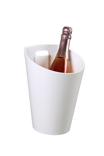 Image du produit Seau à champagne Berina plastique blanc 1 bouteille
