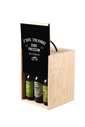 Image du produit Coffret Viano bois/noir 9 bières (type long neck) 3 accessoires - J'suis...