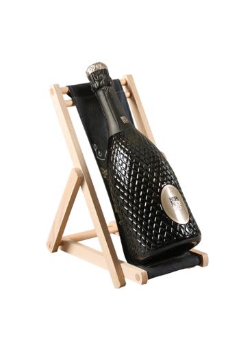 Image du produit Support bouteille Valentina bois toile -  Le monde est plus beau…