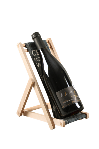 Image du produit Support bouteille Valentina bois toile - Cerf moi un verre