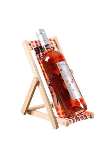 Image du produit Support bouteille Valentina bois toile - BBQ party