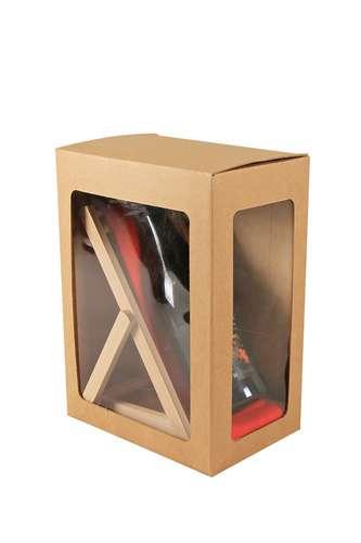 Image du produit Support bouteille Valentina bois toile - J aime la pétanque...