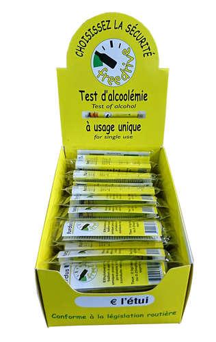 Image du produit Ethylotest Justus usage unique sans ballon 0.5g/l (présentoir carton)