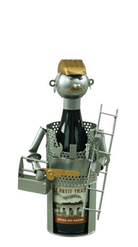 Image du produit Support bouteille Félix métal gris/cuivre - Bricoleur