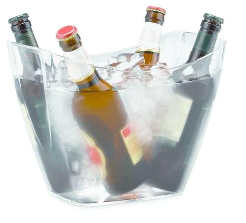 Image du produit Vasque Baltoro plastique transparent 2 bouteilles