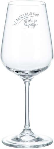 Image du produit Verre de dégustation Perito sur pied 36cl décoré noir - Le meilleur vin…