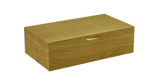 Image du produit Coffret sommelier luxe Bourgeois 2 bouteilles bois teinté verni chêne doré