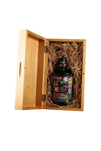 Image du produit Coffret sommelier luxe Bourgeois Spiritueux bois teinté verni chênedoré 16x13x30