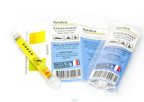 Image du produit Ethylotest Justus usage unique sans ballon 0.2g/l (Permis probatoires)