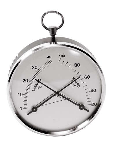 Image du produit Thermomètre hygromètre mural argent