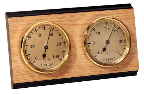 Image du produit Thermomètre hygromètre mural double cadran
