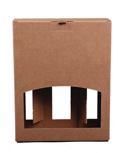 Image du produit Valisette Atlanta carton kraft lisse 3 bières 33cl (type long-neck)