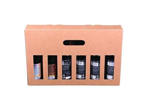 Image du produit Valisette Atlanta carton kraft lisse 6 bières 33cl (type long neck)