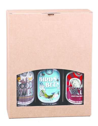 Image du produit Valisette Atlanta carton kraft lisse 3 bières 33/50cl (type Steinie)