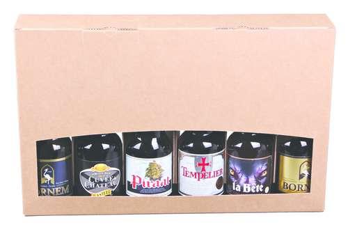 Image du produit Valisette Atlanta carton kraft lisse 6 bières 33/50cl (type Steinie)