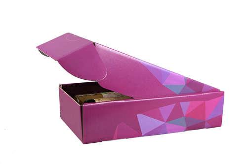 Image du produit Coffret Mexico carton décor poly cassis 2 bouteilles