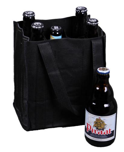 Image du produit Sac Alberto toile intissé noir 6 bières